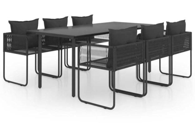 Gartenmöbel-Set Schwarz