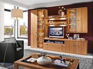 RMW Rietberger Vorschlagskombination V50171 Wohnwand Largo 7teilig Ausfhrung Eiche sand oder