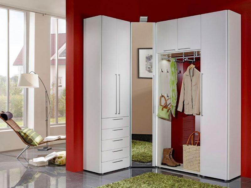 Wittenbreder Entree komplette Garderobe in Weiss Lack