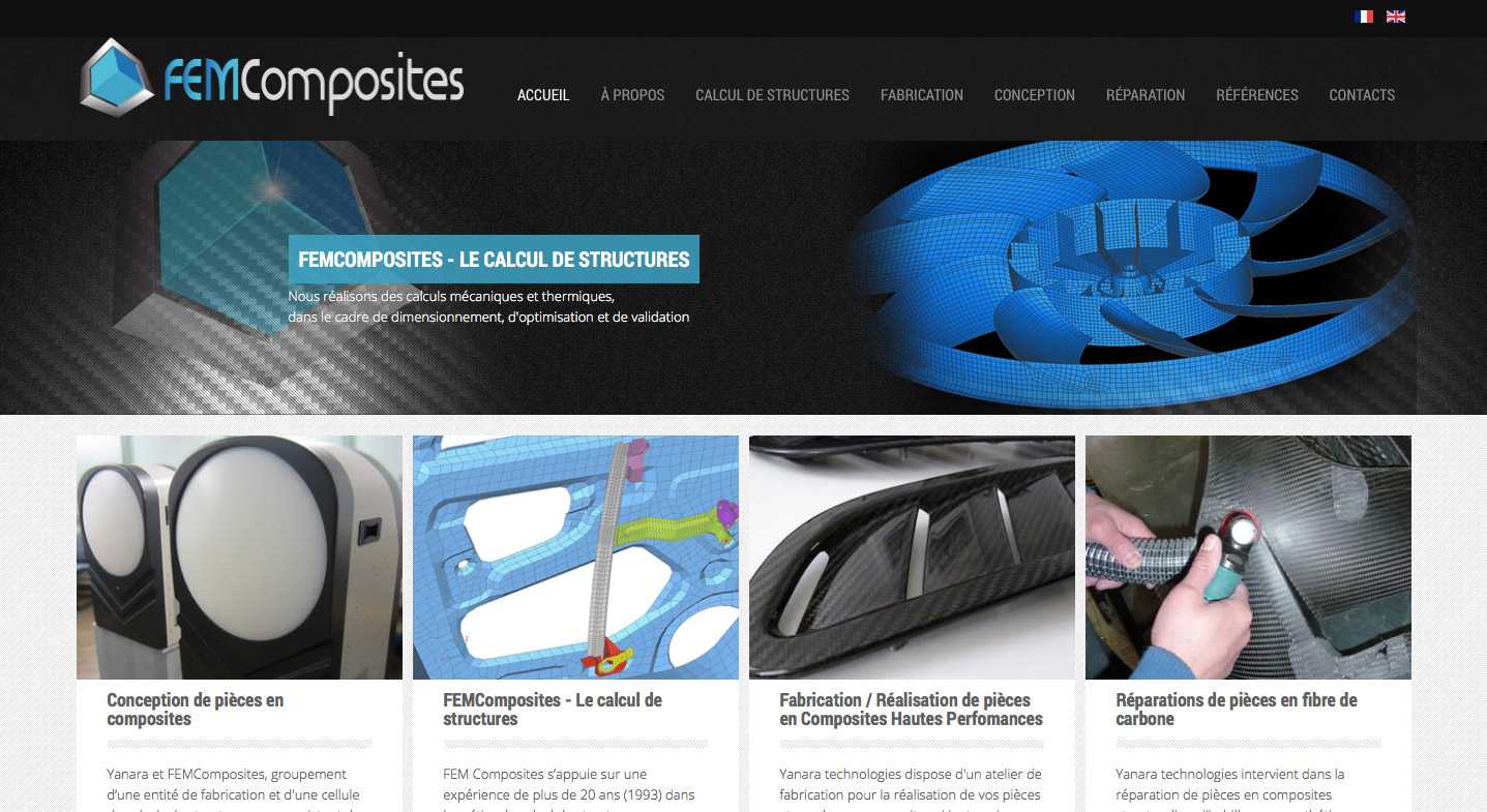 Site internet de FEM composites