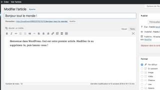 Formation créer son site avec wordpress