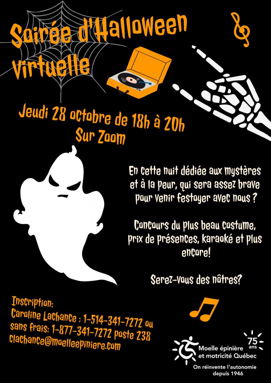 Finder is committed to editorial independence. Soirée d'Halloween virtuelle - Moelle Epinière et Motricité Québec