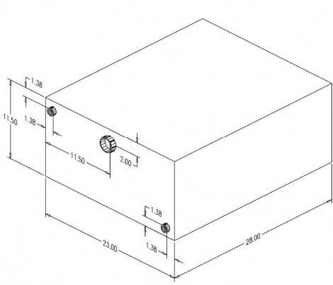 30 Gallon Water Tank with Box 040230