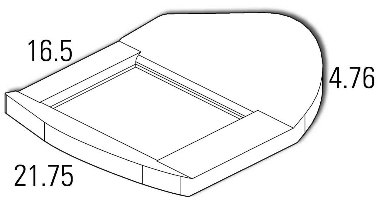 Pontoon Bench Seat Bottom