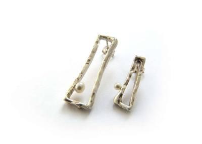 ORECCHINI SCATOLE DEI SOGNI (argento con perla 1)