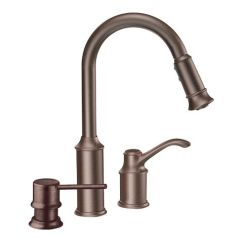 Moen High Arc Kitchen Faucet Chair Pads Aberdeen Oil Rubbed Bronze One-handle Pulldown ...
