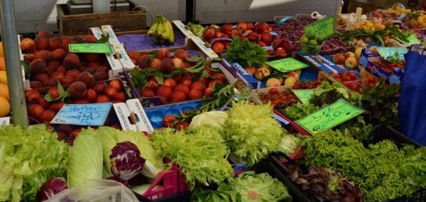fruits and veg vendor in Albenga, Italy
