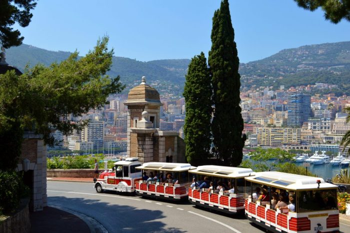 petit-train in Monaco Monte-Carlo
