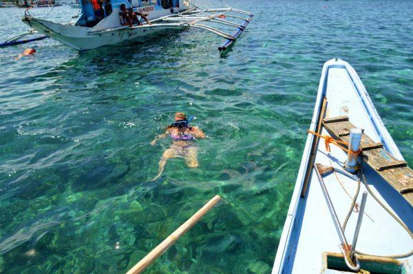 Taking a snorkeling break