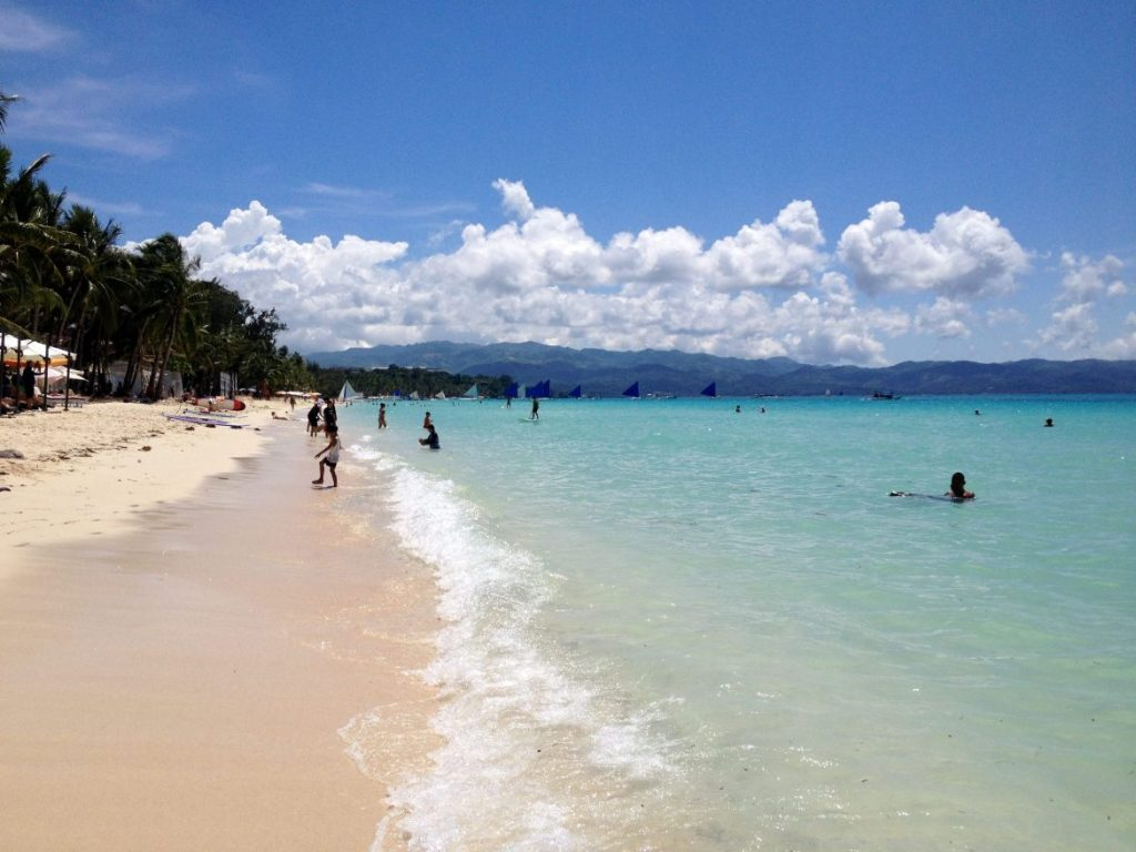 Beautiful beaches on Boracay