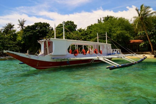 Outrigger Taxi to Boracay island Philippines