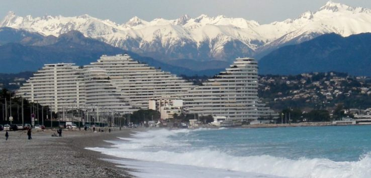 Alps from Villeneuve Loubet France