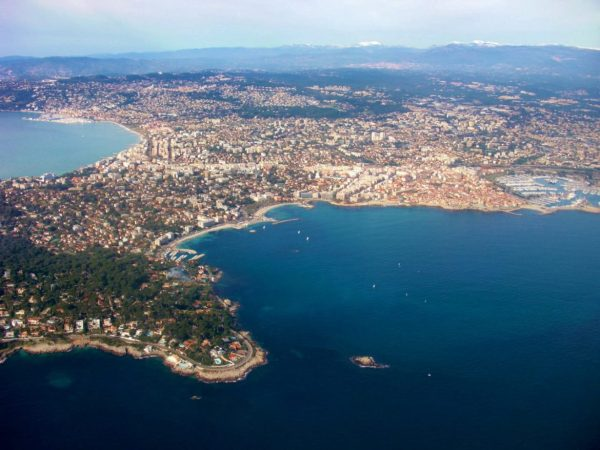 views of Nice from airplane