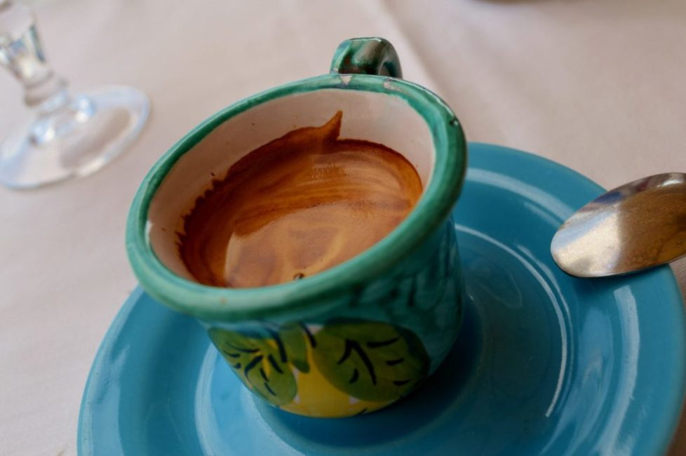 Coffee in a ceramic cup
