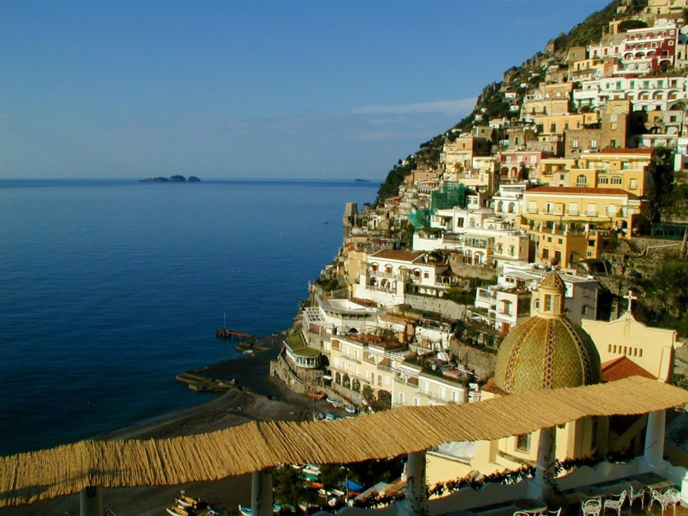 View of Positano from Hotel Le Sirenuse