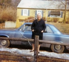 Mark's grandmother and her trusty Rambler.