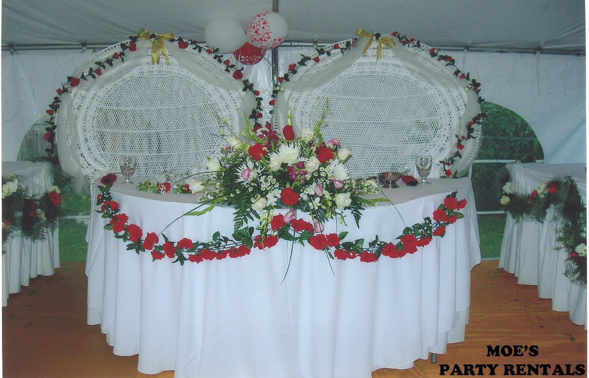 wedding bride and groom chairs patio cafe table 35 00 each