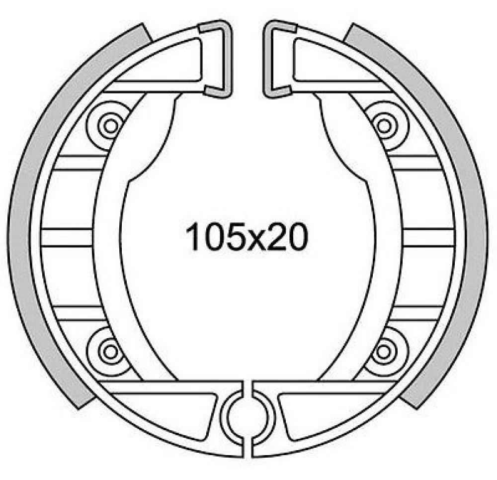 Bremsbacken Vespa Piaggio Ciao 105x20 Bremsbeläge