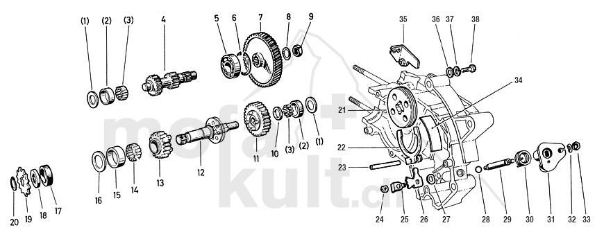 Puch maxi e50 motor explosionszeichnung