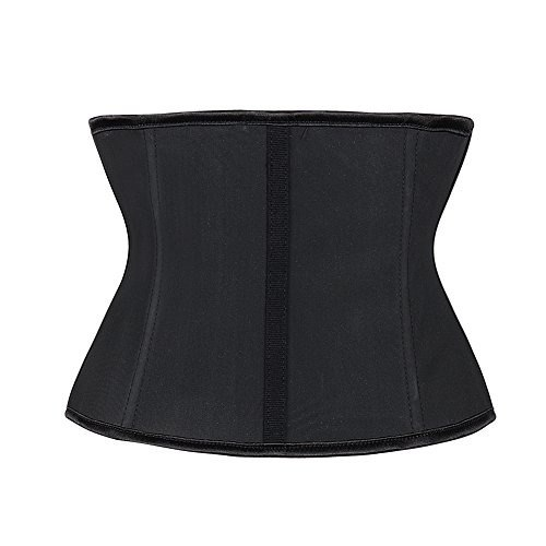 951364f525b Black Short torso latex 9 Steel Boned Waist Trainer – MO Fashions Kenya