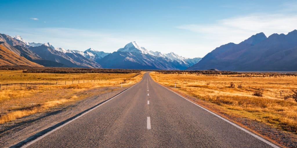 Road toward mountain