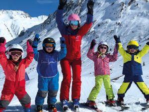 Gruppen Kinderkurs Ski der Skischule Galtür
