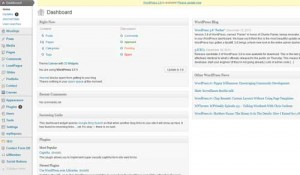 The old WordPress dashboard (click to enlarge)