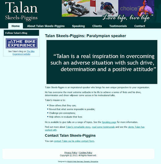 Talan Skeels Piggins: Paralympian speaker
