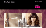 Website of Hi Style Salon, Oswestry, Shropshire
