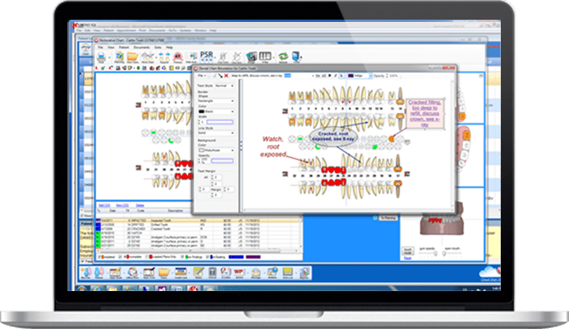 Dental Practice Management Software Image Annotation feature
