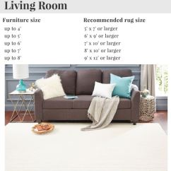 Living Room Rug Size Guide Pouf In How To Arrange Furniture Around An Area Mohawk Home Sizing And Measurements