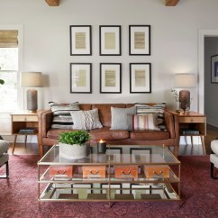 Living Room Decorating With Brown Sofa Paint Color Ideas Green How To Style A Mohawk Home Source Magnolia