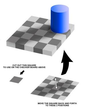 VIDEO Reallife Checkers Illusion