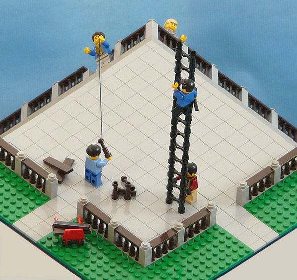 Terrace Illusion recreated in LEGO