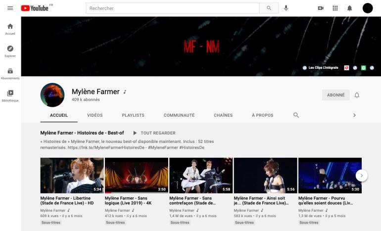 Mylène Farmer, Nevermore, Capture YouTube