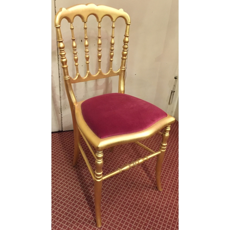 chaise style napoleon iii doree