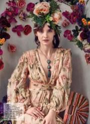Dress, Zimmermann; First boutique; bag, CULT GAIA, First boutique; jewelry, Iordanis Jewelry; headpiece, Melina-Lee Creations