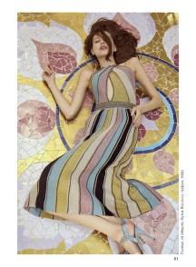 Dress, M Missoni, Rococo boutique; shoes, Aldo
