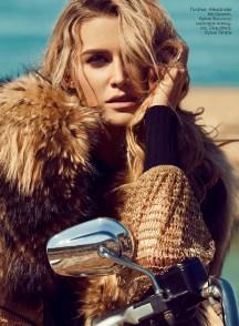 Dress, Alexander McQueen, Rococo; fur piece, Dsquared, TIminis