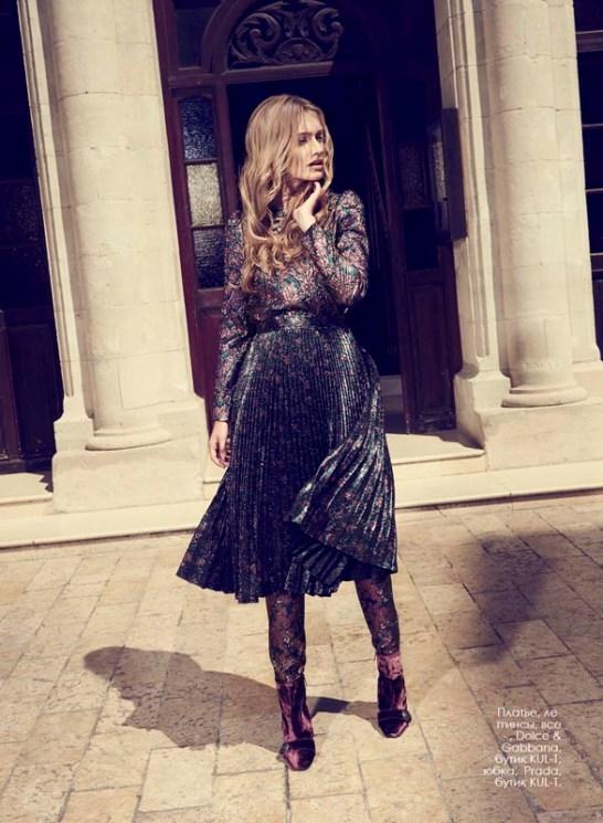 Dress, leggings, all - Dolce & Gabbana, KUL-T boutique; skirt, Prada, KUL-T boutique.