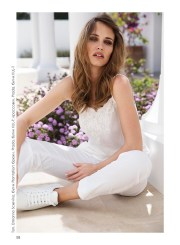 Top, Ermanno Scervino, Plantation boutique; trousers, Prada, KUL-T boutique; sneakers, Prada, KUL-T boutique