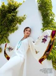 Dress, Alexander Wang, Plantation boutique; beads, Alkionides Charity, KUL-T boutique; scarf, Etro, KUL-T boutique
