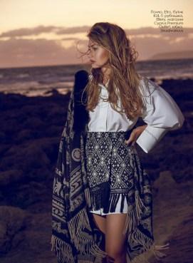 Poncho, Etro, KUL-T boutique; shirt, Ellery, Cyprus Premium Outlet; skirt, Stradivarius