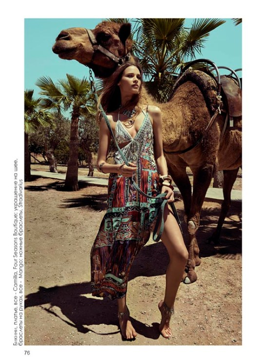 Bikini, dress, all - Camilla, Four Seasons Boutique; necklace, bracelets, all - Mango; ankle bracelets, Stradivarius