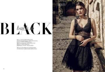 Top, skirt, all - Ermano Scervino, First boutique; belt, Lauren by Ralph Lauren, Timinis boutique; earrings, Aldo
