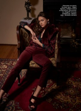 Fur vest, blouse, all - Sisley; pants, United Colour of Benetton; shoes, Bagatt; ring, necklace, rings, all - Iordanis Jewelry