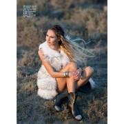 Fur vest, Symétrie, Vito Ponti fur saloon; shoes, Ballin, Saga boutique; bracelets, Mango.