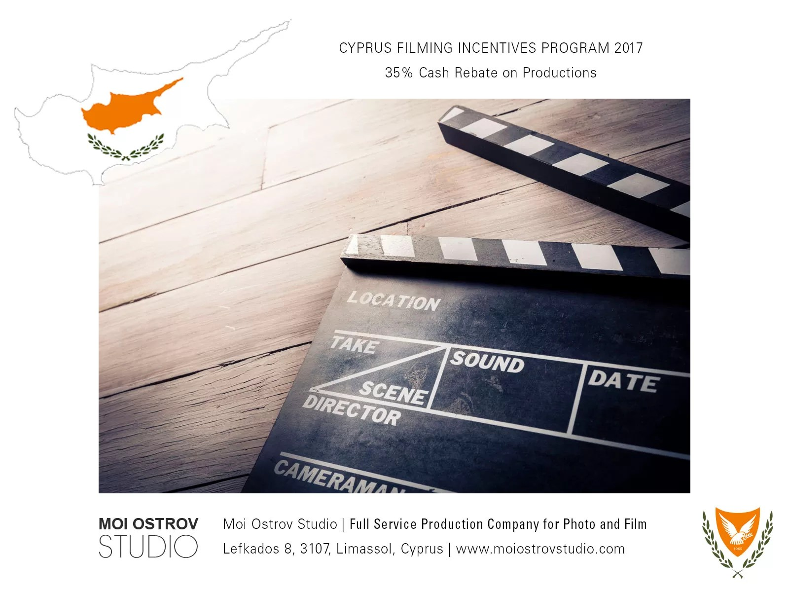 Cash incentives for filming in Cyprus