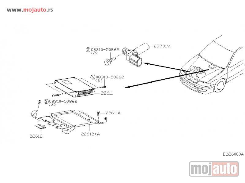 Novi Nissan Almera I N15 Senzor Radilice 95-00, NOVO