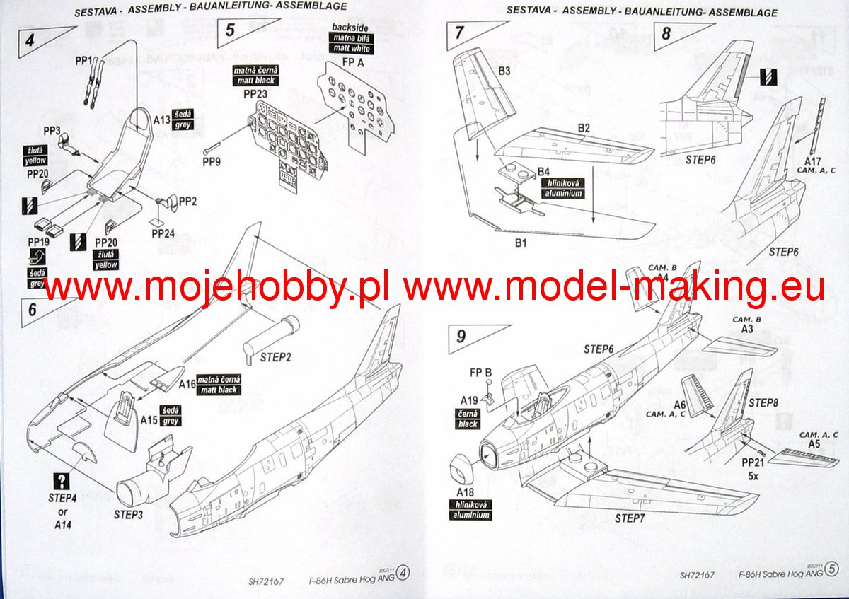 F 86h Sabre Hog In Ang Service Model Do Sklejania Special
